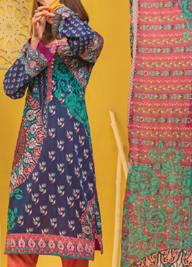 Lamha by Tarzz Printed Lawn Suits Unstitched 2 Piece TZ21L SS-2-02 - Spring / Summer Collection