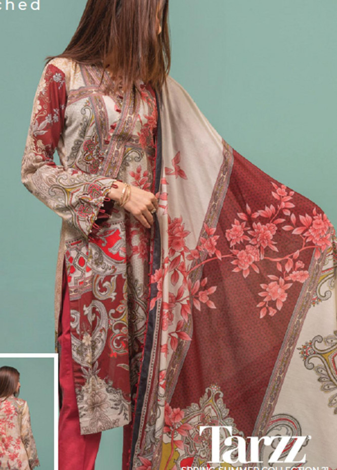 Lamha by Tarzz Printed Lawn Suits Unstitched 2 Piece TZ21L SS-2-05 - Spring / Summer Collection