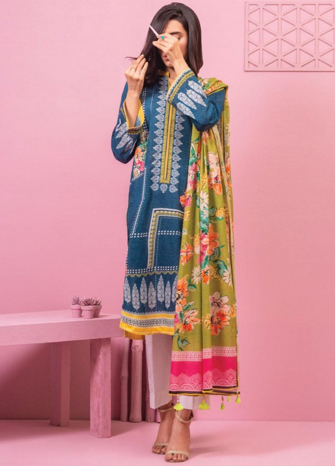 Lamha by Tarzz Printed Lawn Suits Unstitched 2 Piece TZ21L SS-2-06 - Spring / Summer Collection