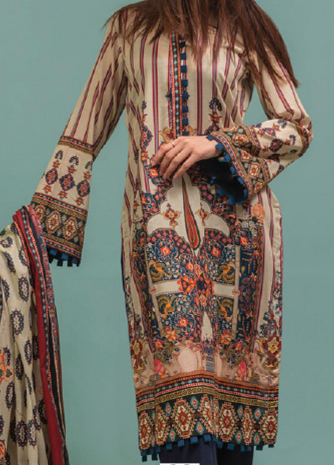 Lamha by Tarzz Printed Lawn Suits Unstitched 2 Piece TZ21L SS-2-12 - Spring / Summer Collection