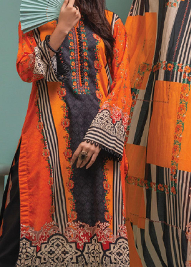 Lamha by Tarzz Printed Lawn Suits Unstitched 2 Piece TZ21L SS-2-13 - Spring / Summer Collection