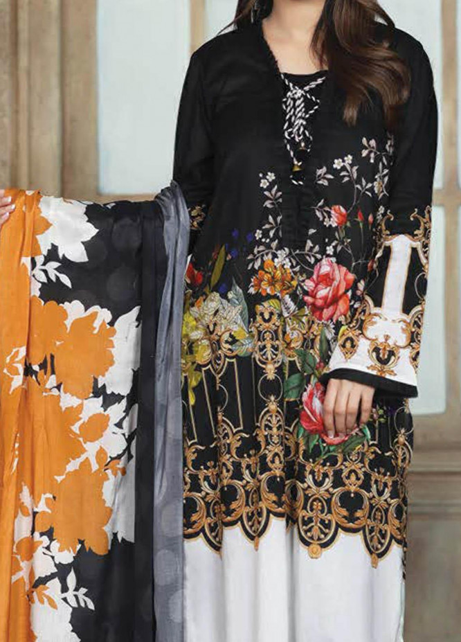 LimeLight Printed Lawn Suits Unstitched 2 Piece LL21S U-1087 BLACK - Summer Collection