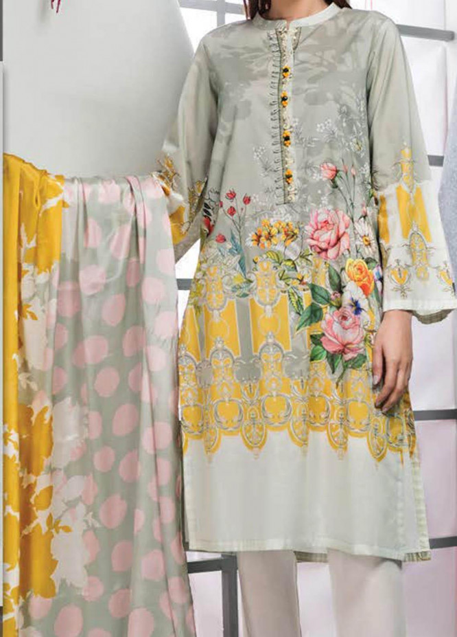 LimeLight Printed Lawn Suits Unstitched 2 Piece LL21S U-1087 P-GREEN - Summer Collection