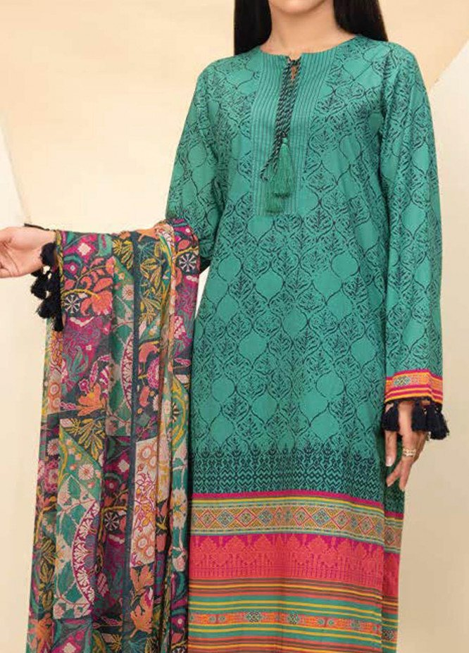 LimeLight Printed Lawn Suits Unstitched 3 Piece LL21S U-1103 AQUA - Summer Collection