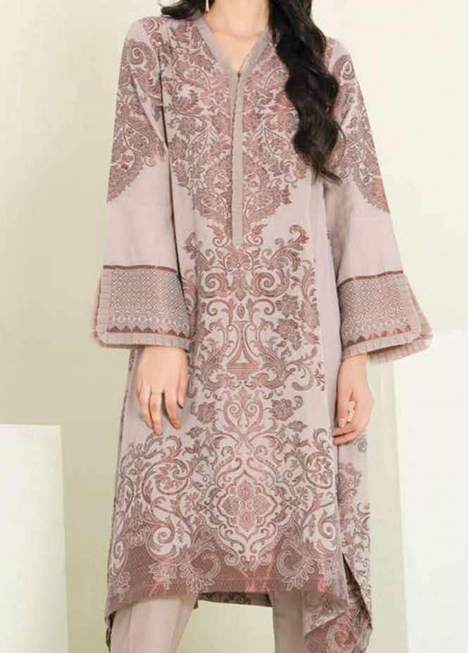 LimeLight Printed Jacquard Suits Unstitched 2 Piece LL21S U-1108 MEDIUM BEIGE - Summer Collection