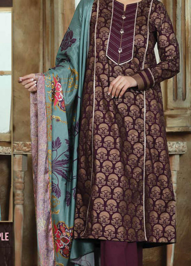 LimeLight Printed Lawn Suits Unstitched 2 Piece LL21S U-1137 PURPLE - Summer Collection