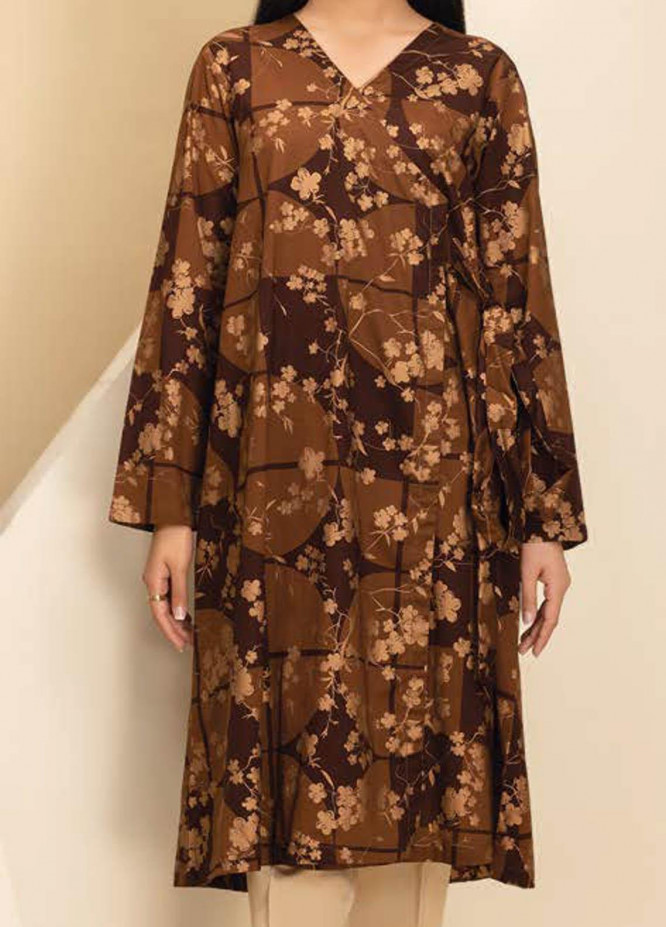 LimeLight Printed Lawn Unstitched Kurties LL21S U-1169 CHOCOLATE - Summer Collection