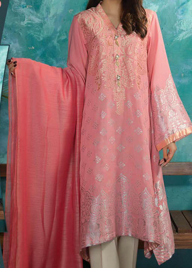 LimeLight Printed Jacquard Suits Unstitched 2 Piece LL21S U-1198 D-PINK - Summer Collection