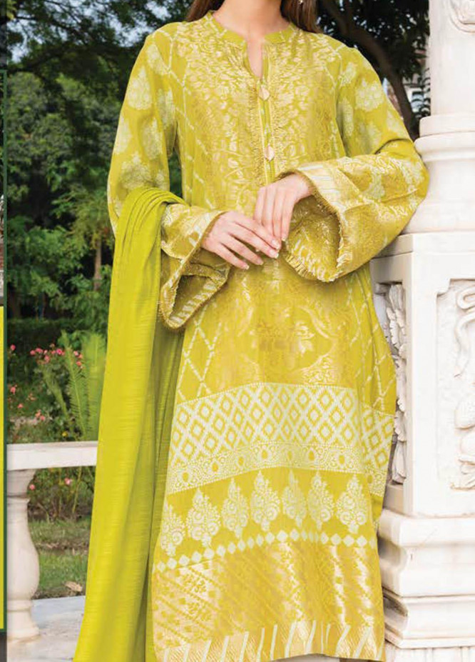 LimeLight Printed Jacquard Suits Unstitched 2 Piece LL21S U-1199 GREEN - Summer Collection