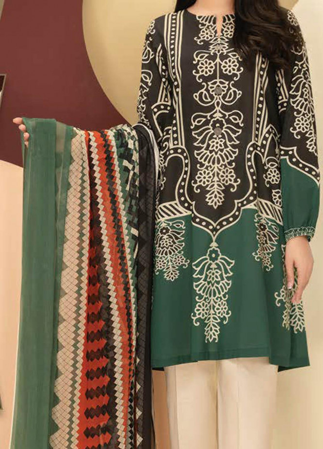 LimeLight Printed Lawn Suits Unstitched 2 Piece LL21S U-1239 BLACK - Summer Collection