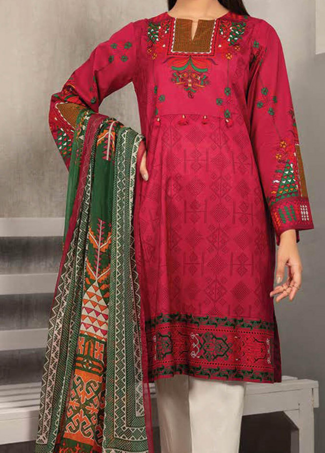 LimeLight Printed Lawn Suits Unstitched 2 Piece LL21S U-1289 GREEN - Summer Collection