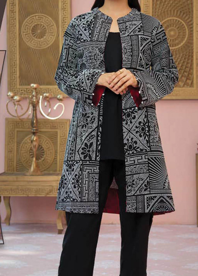 LimeLight Printed Lawn Unstitched Kurties LL21S U-1407 BLACK - Summer Collection