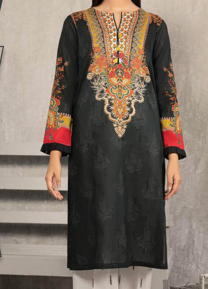 LimeLight Printed Lawn Suits Unstitched 2 Piece LL21S U-1440 BLACK - Summer Collection