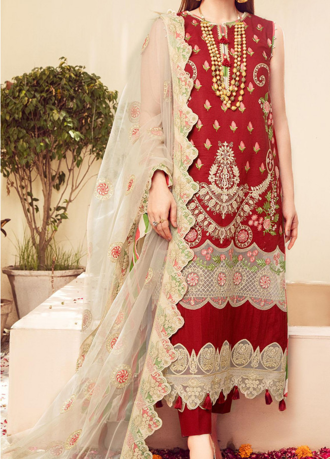 Mah-Pari By Surmai Embroidered Lawn Suits Unstitched 3 Piece SUR21M 03 Chashme Rang - Summer Collection