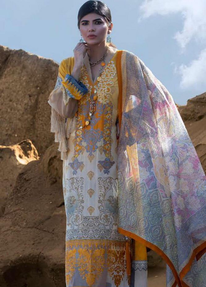 Mahamir by Tajnoor Embroidered Lawn Unstitched 3 Piece Suit TN20M 05 - Spring / Summer Collection