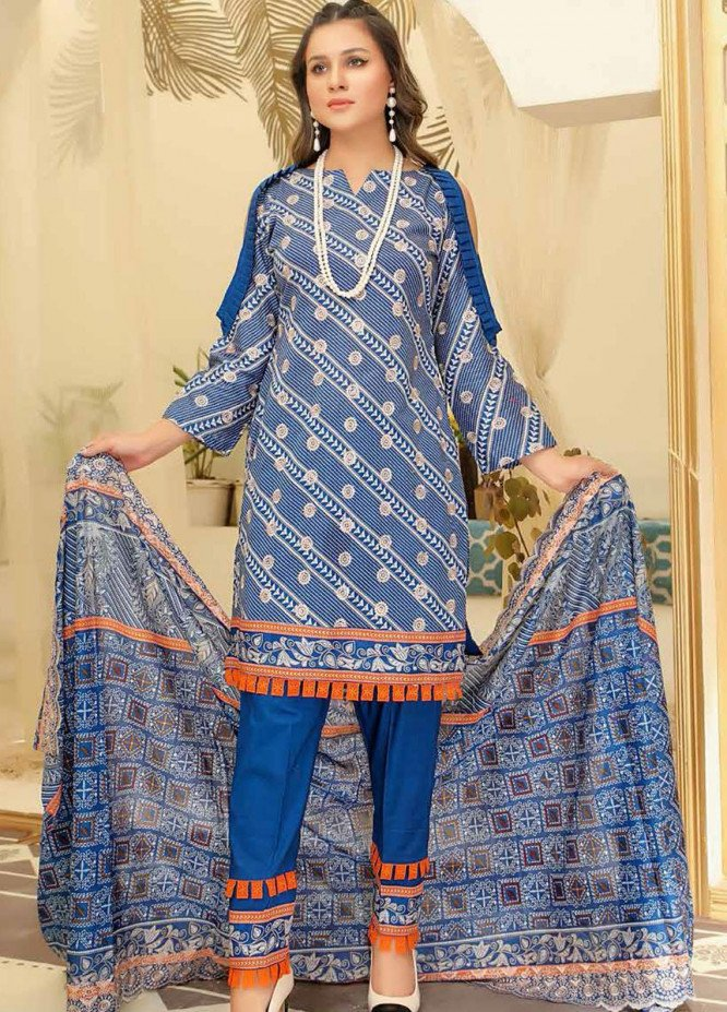 Mahee's by Riaz Arts Embroidered Lawn Suits Unstitched 3 Piece RA21-M13 ML-09 - Summer Collection