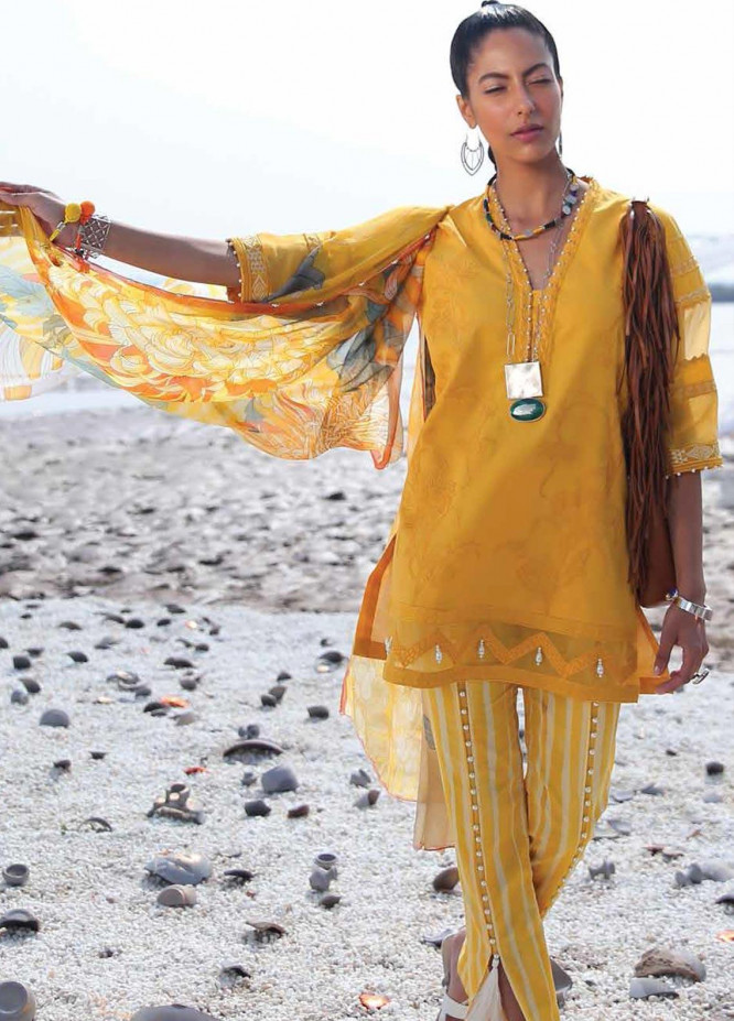 Mahgul Embroidered Lawn Unstitched 3 Piece Suit MG20M 07 - Luxury Collection
