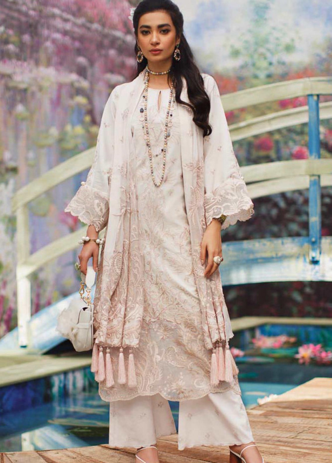 Mahgul Embroidered Lawn Suits Unstitched 3 Piece MG21LR MLL21-01 - Luxury Collection