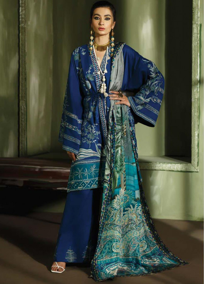 Mahgul Embroidered Lawn Suits Unstitched 3 Piece MG21LR MLL21-13 - Luxury Collection