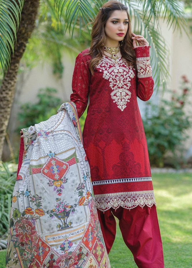 Mahi by Marwat Textiles Embroidered Lawn Unstitched 3 Piece Suit MMT20M M-01 - Luxury Collection