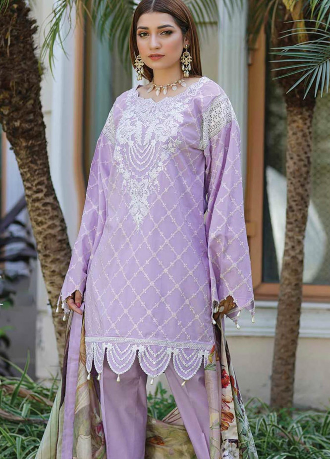 Mahi by Marwat Textiles Embroidered Lawn Unstitched 3 Piece Suit MMT20M M-08 - Luxury Collection