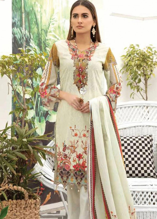Mahjabeen by Riaz Arts Embroidered Lawn Unstitched 3 Piece Suit RA21M 02 - Summer Collection
