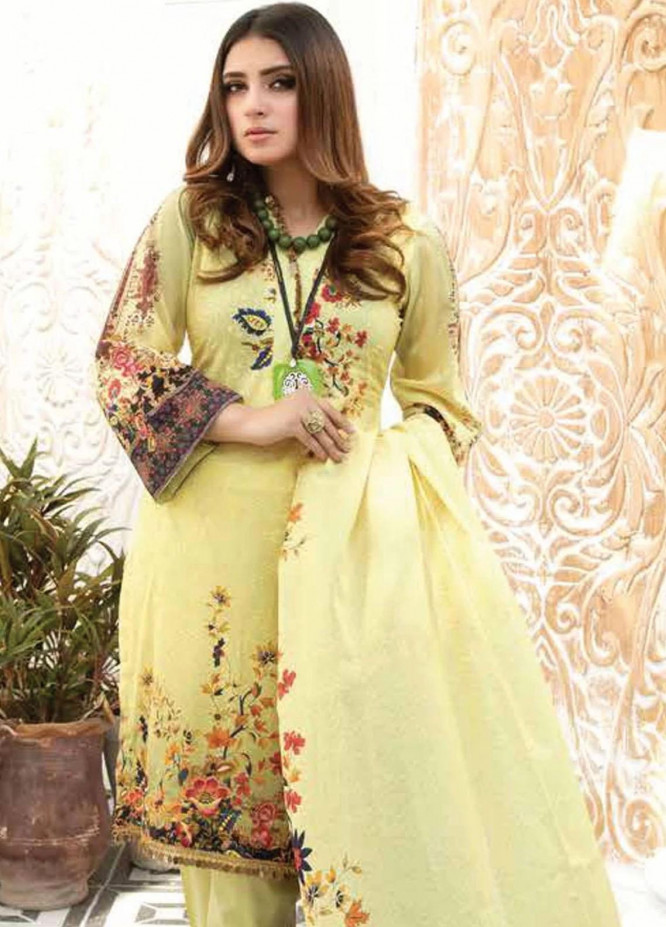 Mahjabeen by Riaz Arts Embroidered Lawn Unstitched 3 Piece Suit RA21M 03 - Summer Collection
