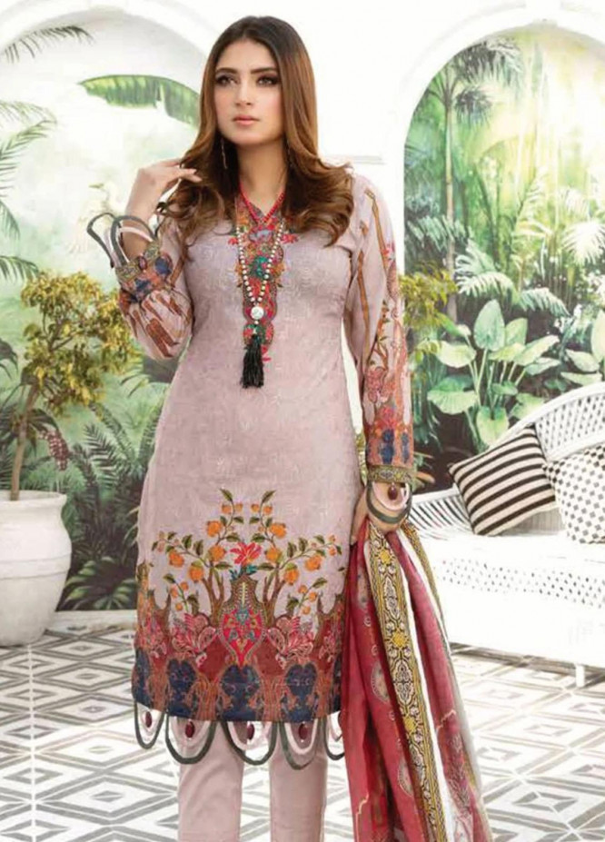 Mahjabeen by Riaz Arts Embroidered Lawn Unstitched 3 Piece Suit RA21M 07 - Summer Collection
