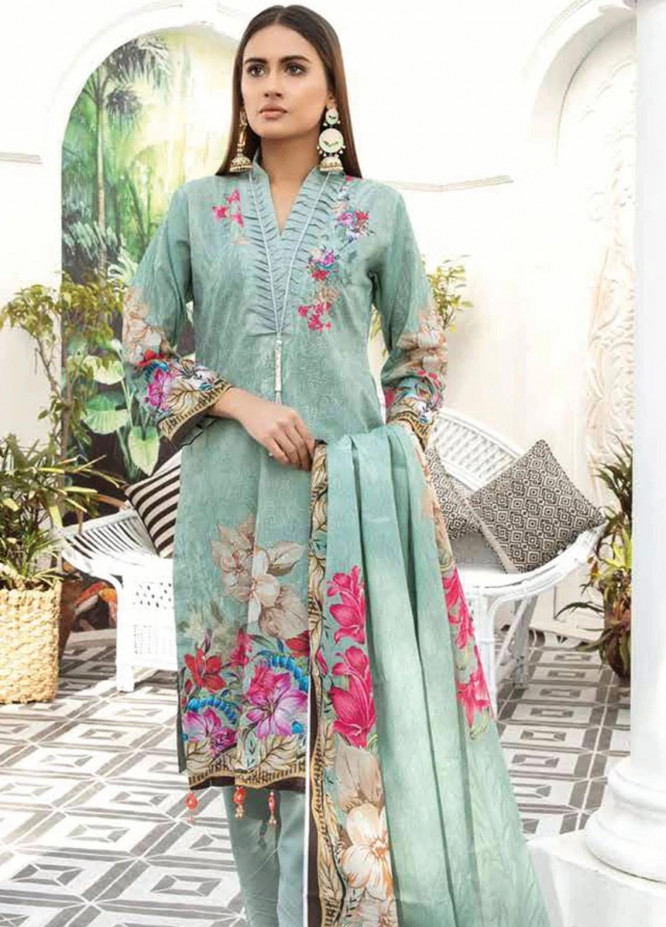 Mahjabeen by Riaz Arts Embroidered Lawn Unstitched 3 Piece Suit RA21M 09 - Summer Collection