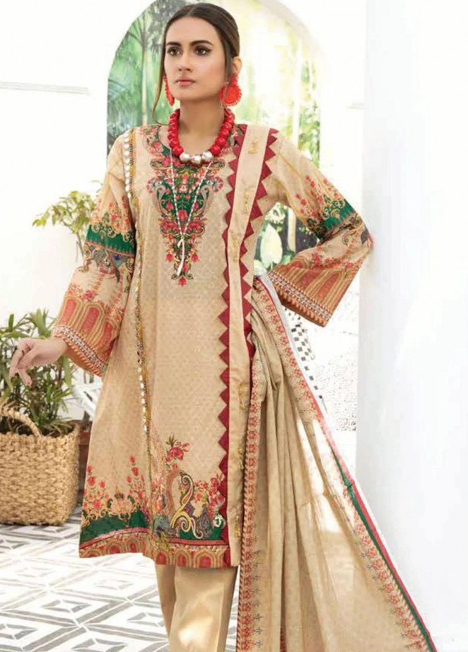 Mahjabeen by Riaz Arts Embroidered Lawn Unstitched 3 Piece Suit RA21M 10 - Summer Collection