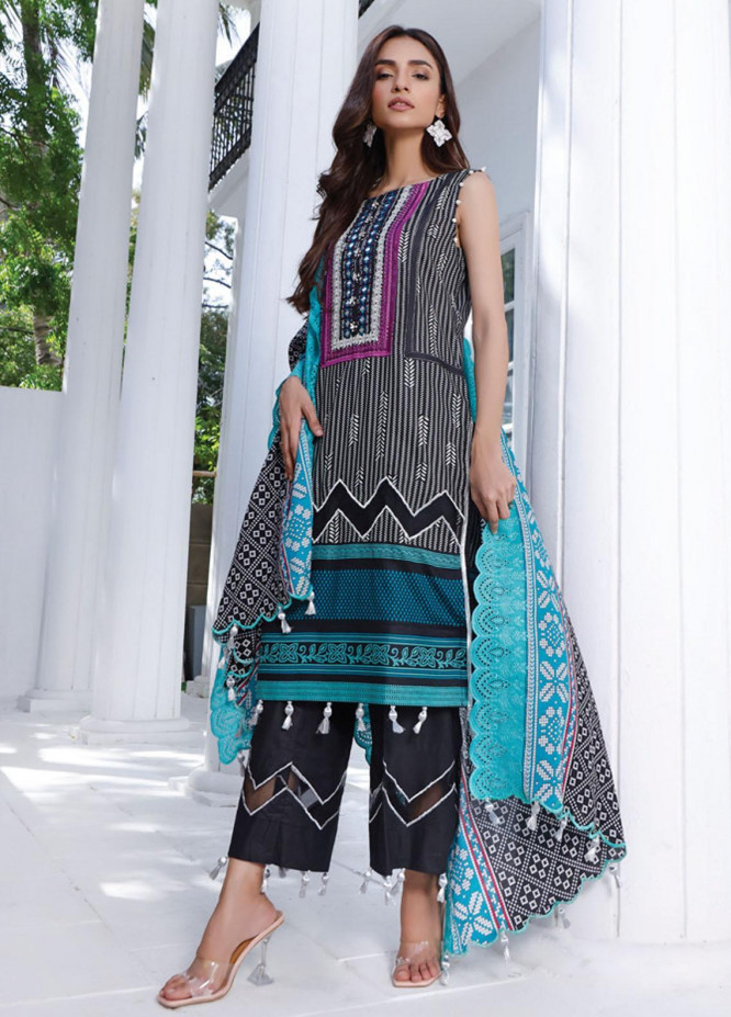 Mahnoor by Al Zohaib Embroidered Chikankari Suits Unstitched 3 Piece AZ21M 01A - Summer Collection