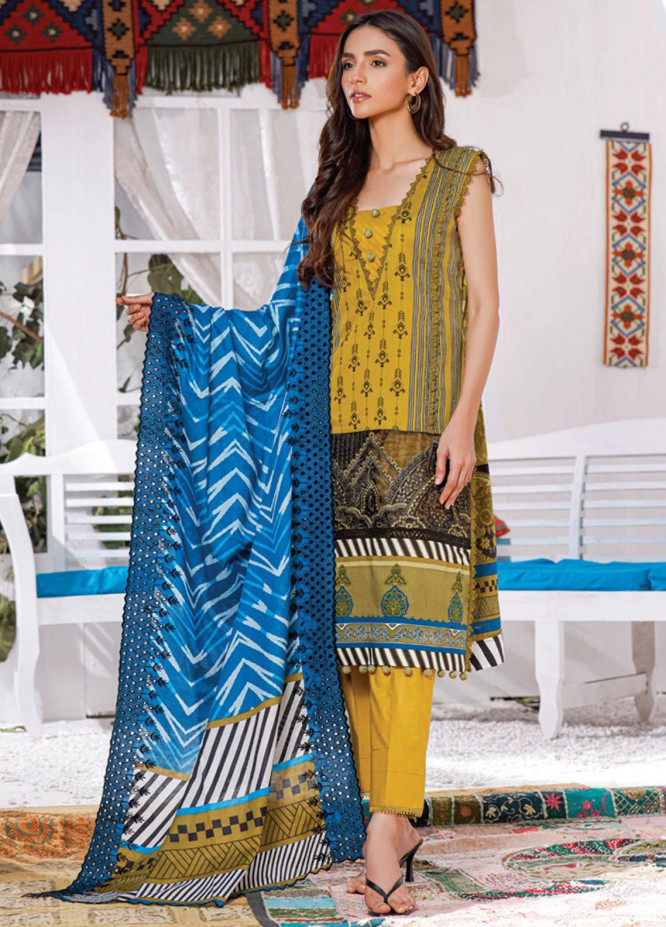 Mahnoor by Al Zohaib Embroidered Chikankari Suits Unstitched 3 Piece AZ21M 02A - Summer Collection