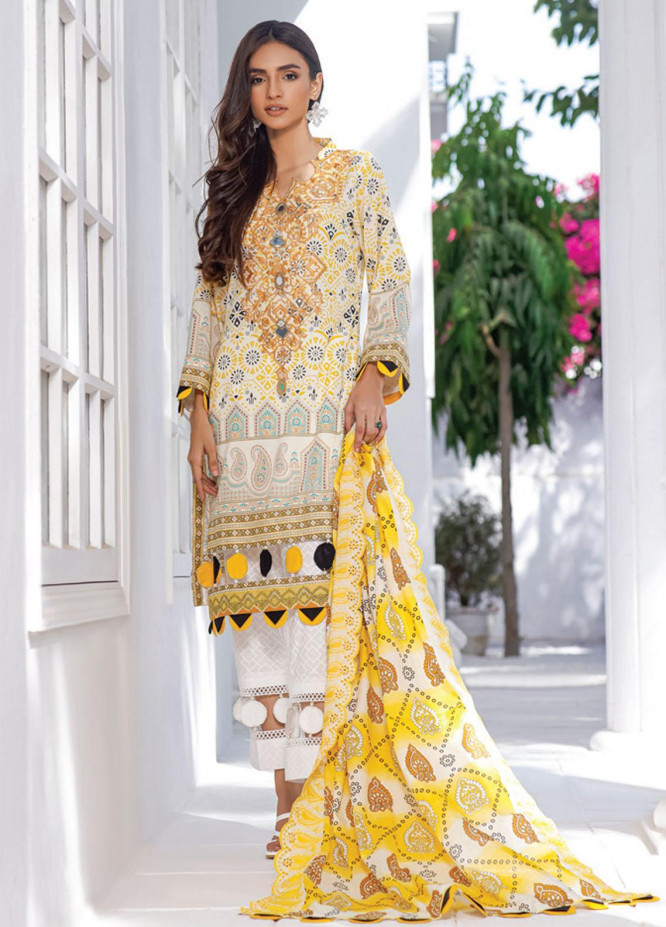 Mahnoor by Al Zohaib Embroidered Chikankari Suits Unstitched 3 Piece AZ21M 03B - Summer Collection