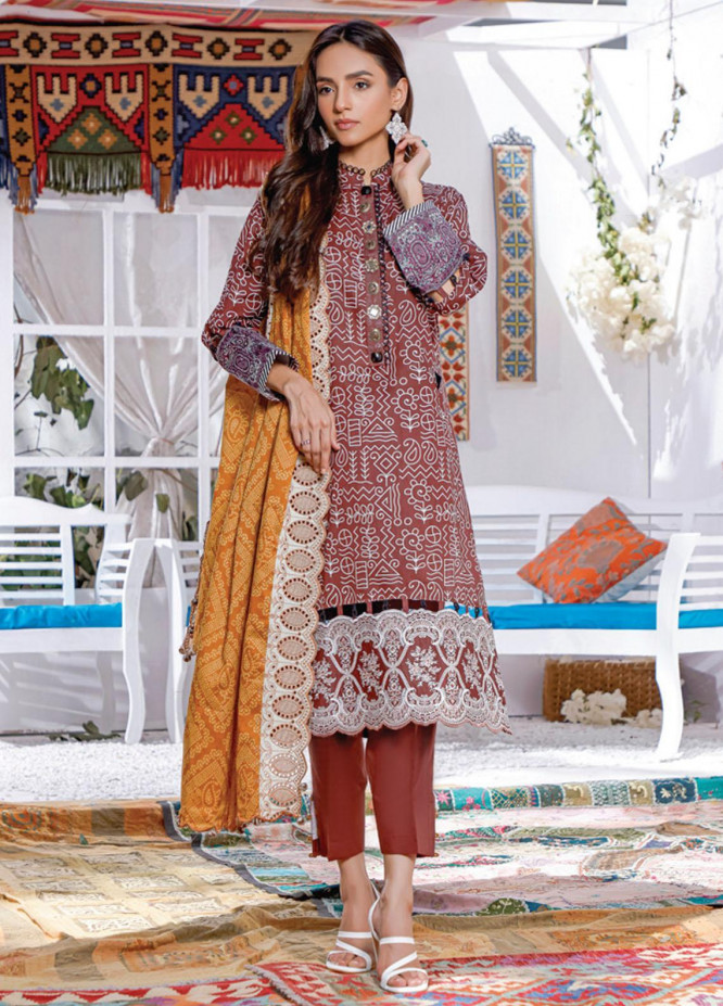 Mahnoor by Al Zohaib Embroidered Chikankari Suits Unstitched 3 Piece AZ21M 05 - Summer Collection