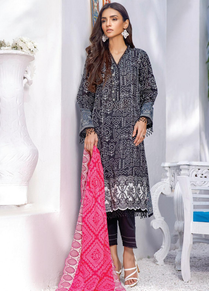 Mahnoor by Al Zohaib Embroidered Chikankari Suits Unstitched 3 Piece AZ21M 04A - Summer Collection