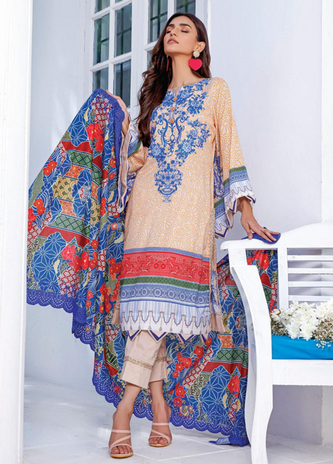 Mahnoor by Al Zohaib Embroidered Chikankari Suits Unstitched 3 Piece AZ21M 04B - Summer Collection