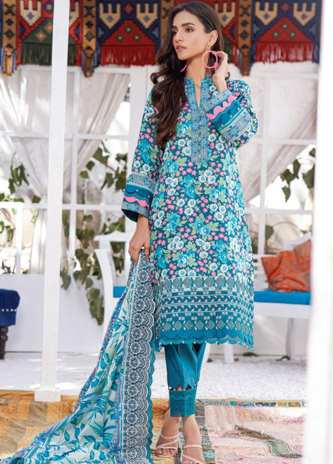 Mahnoor by Al Zohaib Embroidered Chikankari Suits Unstitched 3 Piece AZ21M 06A - Summer Collection