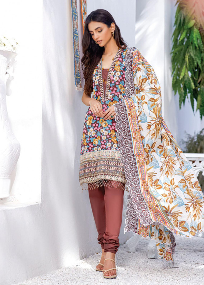 Mahnoor by Al Zohaib Embroidered Chikankari Suits Unstitched 3 Piece AZ21M 06B - Summer Collection
