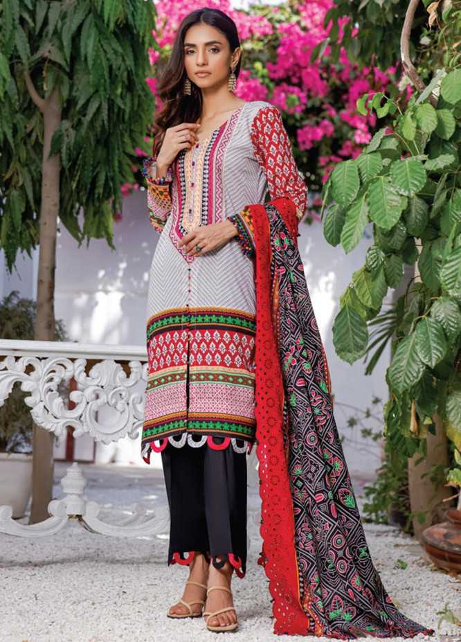 Mahnoor by Al Zohaib Embroidered Chikankari Suits Unstitched 3 Piece AZ21M 07A - Summer Collection