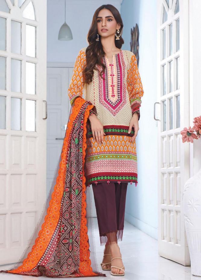 Mahnoor by Al Zohaib Embroidered Chikankari Suits Unstitched 3 Piece AZ21M 07B - Summer Collection