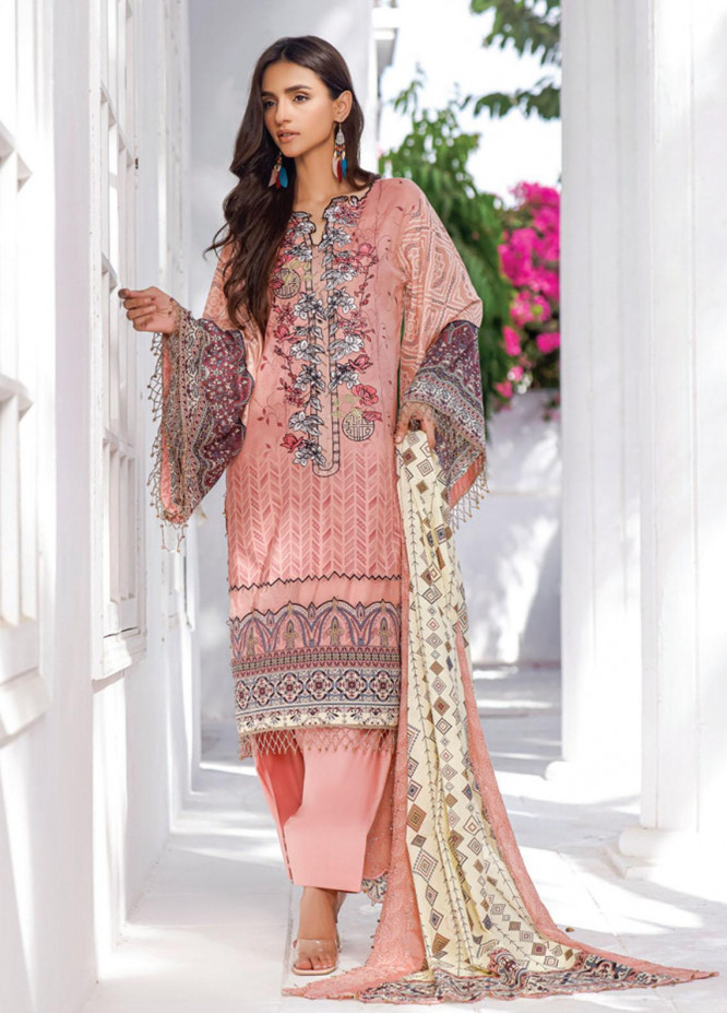 Mahnoor by Al Zohaib Embroidered Chikankari Suits Unstitched 3 Piece AZ21M 08B - Summer Collection