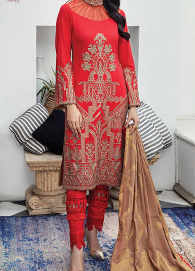 Mahrosh By House of Nawab Embroidered Lawn Suits Unstitched 3 Piece HON21M 09 Nalah - Luxury Collection