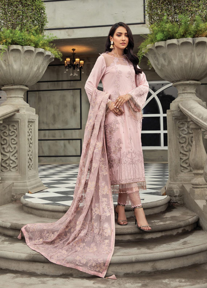 Mahrosh By House of Nawab Embroidered Lawn Suits Unstitched 3 Piece HON21M 12 Vero - Luxury Collection