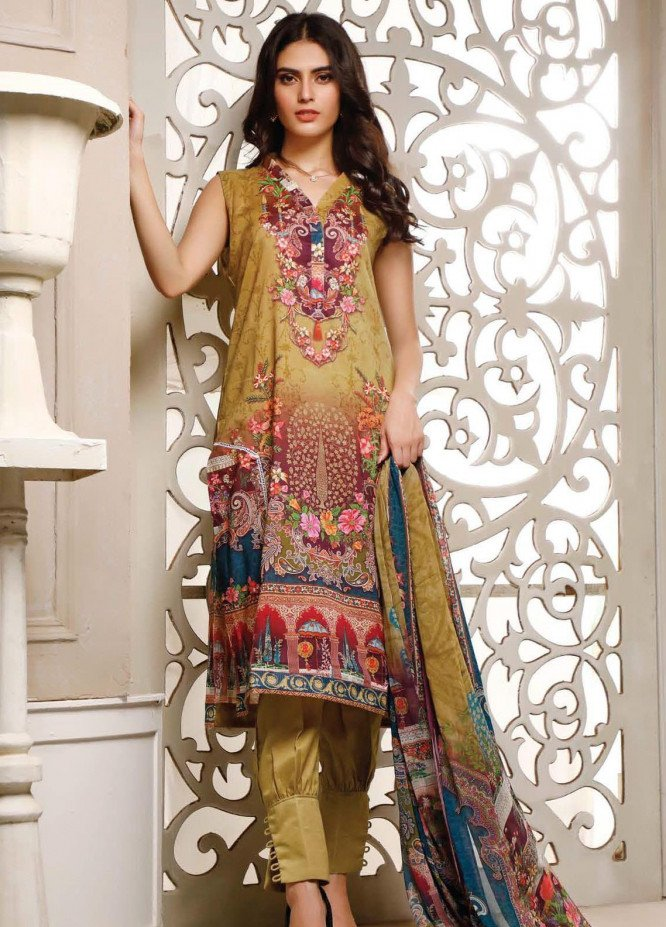 Malhar Printed Lawn Unstitched 3 Piece Suit ML20B B72-B - Summer Collection