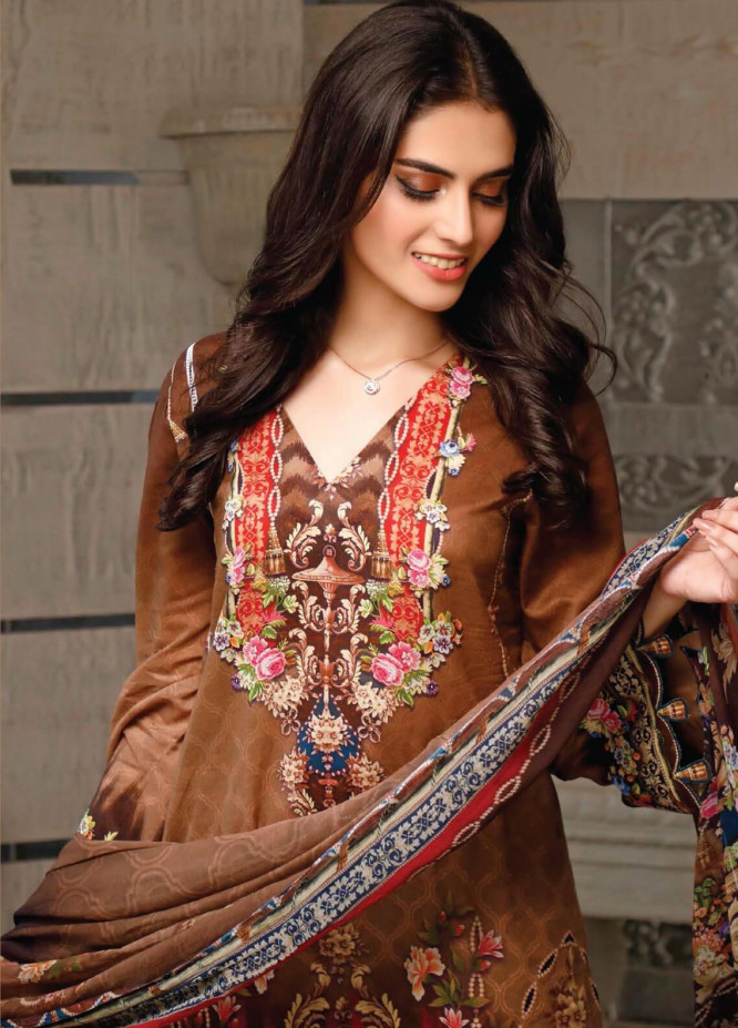 Malhar Printed Lawn Unstitched 3 Piece Suit ML20B B76-B - Summer Collection