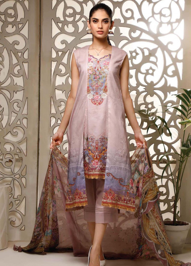 Malhar Printed Lawn Unstitched 3 Piece Suit ML20B B79-A - Summer Collection