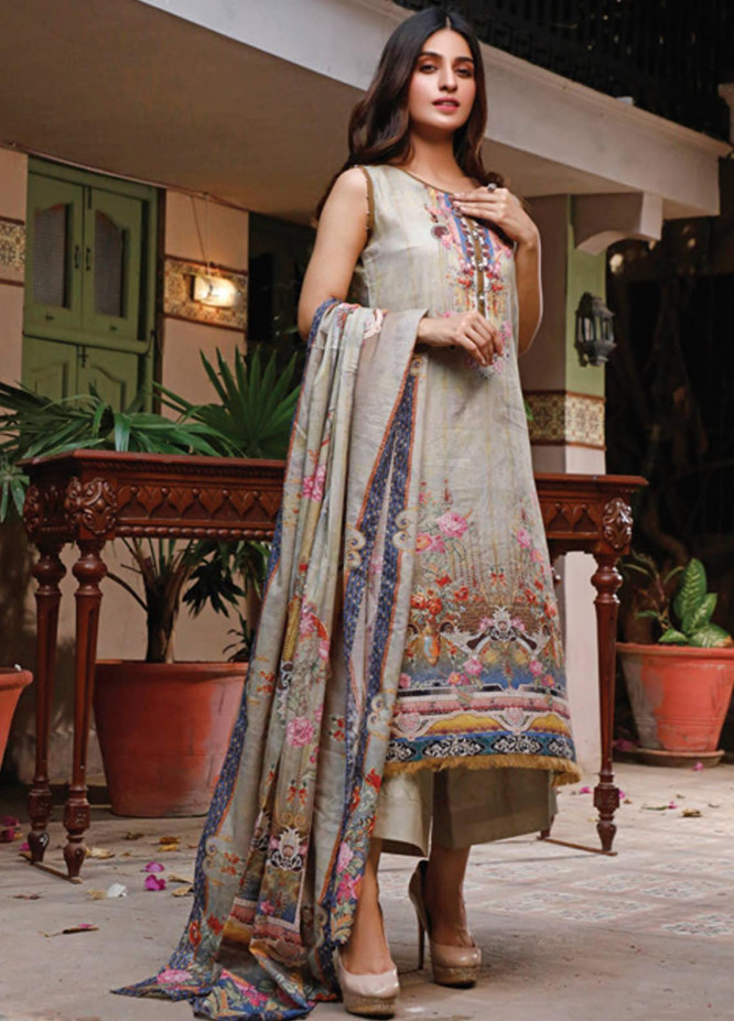 Malhar Printed Lawn Unstitched 3 Piece Suit ML20D 221-A - Spring / Summer Collection