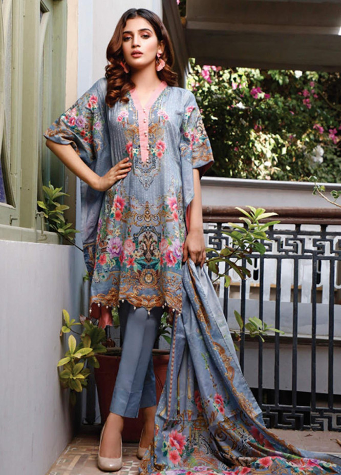 Malhar Printed Lawn Unstitched 3 Piece Suit ML20D 222-B - Spring / Summer Collection
