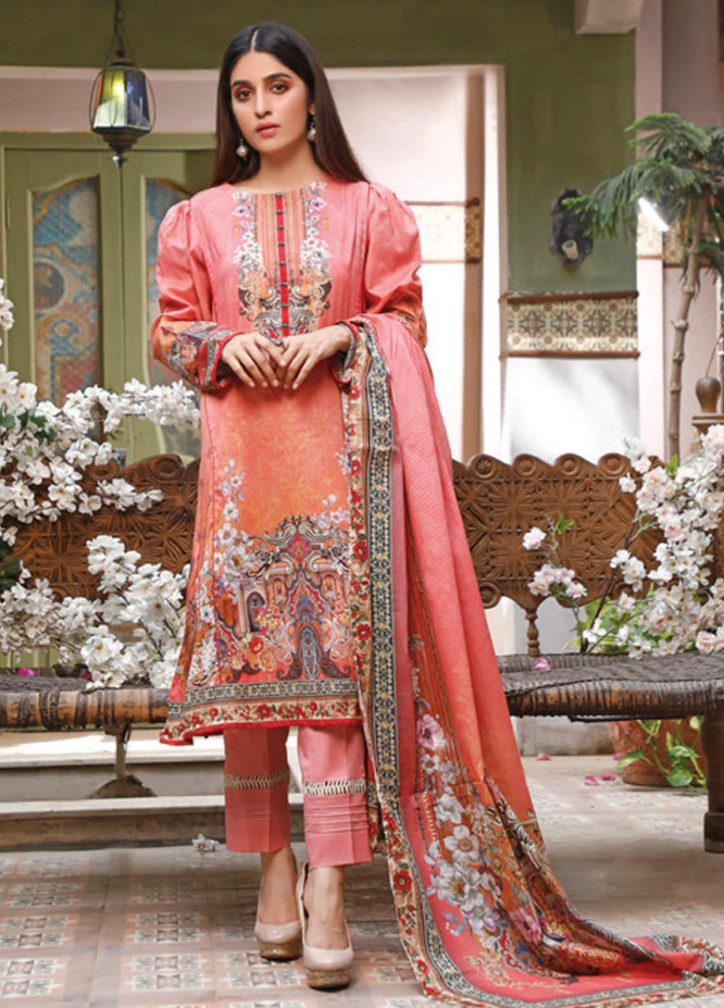 Malhar Printed Lawn Unstitched 3 Piece Suit ML20D 224-A - Spring / Summer Collection