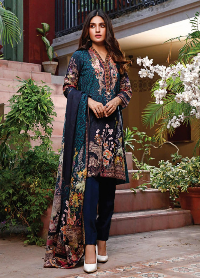 Malhar Printed Lawn Unstitched 3 Piece Suit ML20D 226-B - Spring / Summer Collection